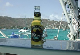 A cool refreshing beer (cheaper than water) at Bequia