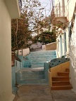 Looking up the stairway in the village on Kalymnos