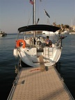 Our charter boat on the dock in Kos
