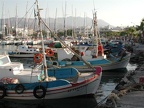 The fishing boats on anchor in Kos