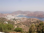 The view down to the village at Patmos