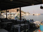The view of the harbor from the Greek Taverna on the beach