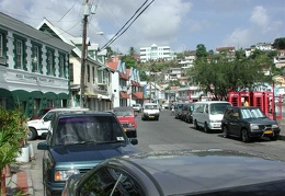 The town at the harbor on Grenada