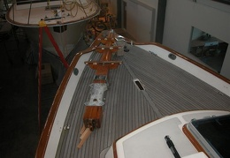 The decks are recaulked now time to work on the bowsprit
