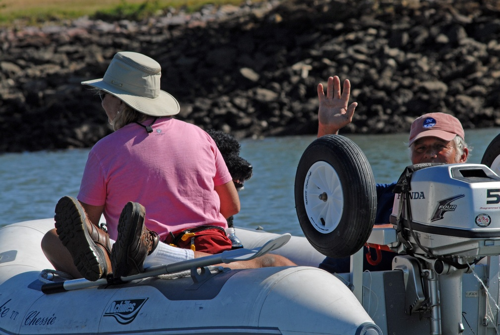 A dinghy tour with Richard and Karen from Chessie