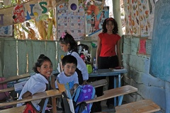 One of the classrooms and teacher
